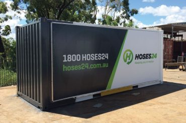 Storage Container Banner Signage