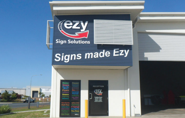 Building Signage, signwriter in Mackay,