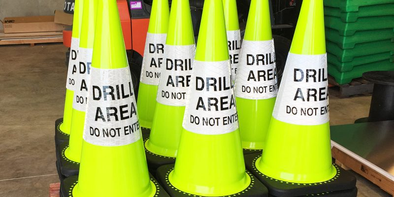 Drill Area Safety Cones