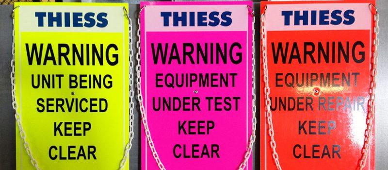 Warning Safety Signage